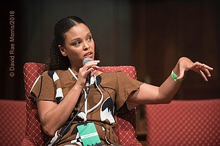 Jesmyn Ward is an associate professor of English at Tulane University,  a novelist and essayist and the only woman to have won the National Book Award twice. Photo by David Rae Morris