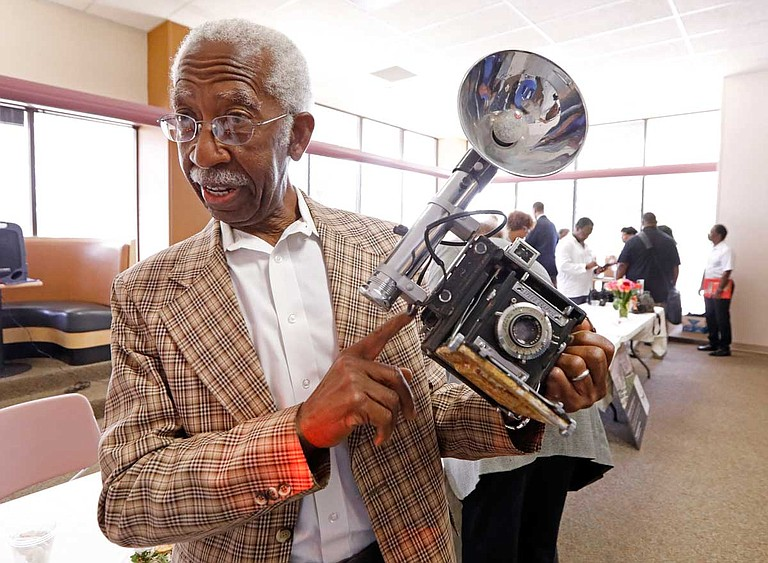 In a state Department of Archives and History news release, Jerry W. Keahey Sr. says he hopes his camera will be displayed near his photos in the museum's exhibition about the Tougaloo Nine. Photo by Rogelio V. Solis via AP
