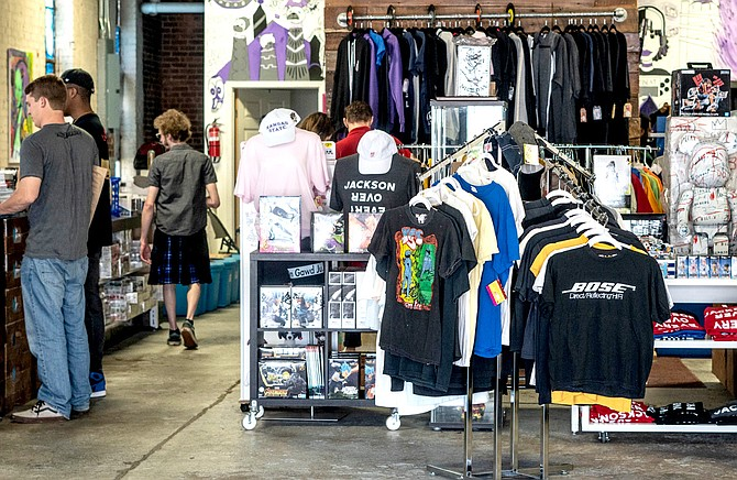 Vintage-clothing business Good Problems opened in Offbeat during Vibe Fest on April 20. Photo by Delrico Harris