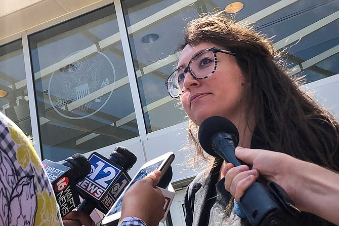 Center for Reproductive Rights staff attorney Hillary Schneller asked U.S. District Court Judge Carlton Reeves to block Mississippi's six-week abortion ban at a hearing on May 21, 2019.