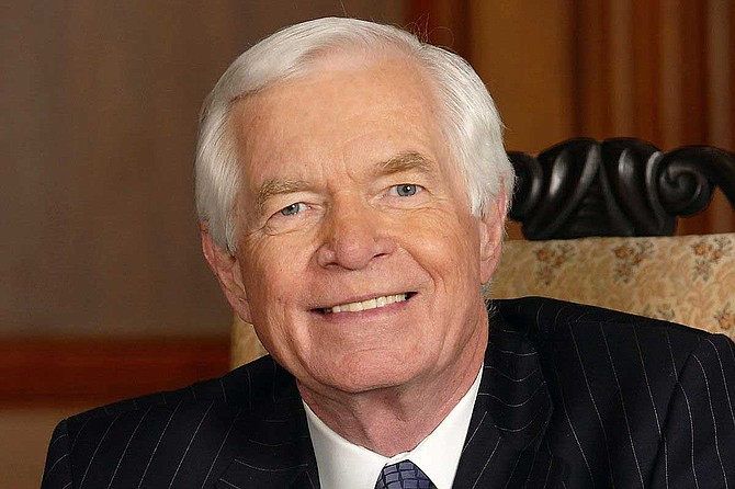 The first of two funeral services for Thad Cochran is taking place Monday at the Mississippi Capitol in Jackson. The second is on Tuesday at a church in the city. Photo courtesy U.S. Senate