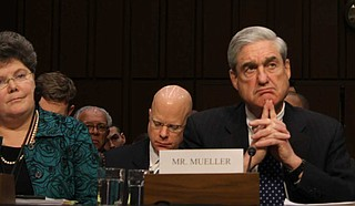 The Justice Department has agreed to turn over some of the underlying evidence from special counsel Robert Mueller's (pictured) report, including files used to assess whether President Donald Trump obstructed justice, the chairman of the House Judiciary Committee said Monday. File Photo by Kit Fox Medill/Flickr