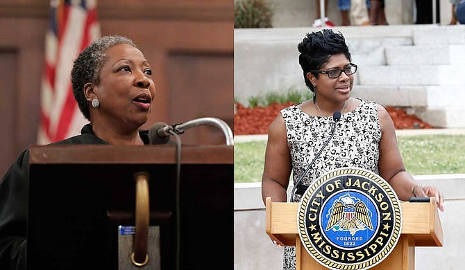 WAPT-TV says Judge Tomie Green (left) cited prior official and governmental relationships with both plaintiffs and defendants. Judge Adrienne Wooten (right) was assigned the case next and issued her recusal three days later, citing prior information and knowledge about the case.