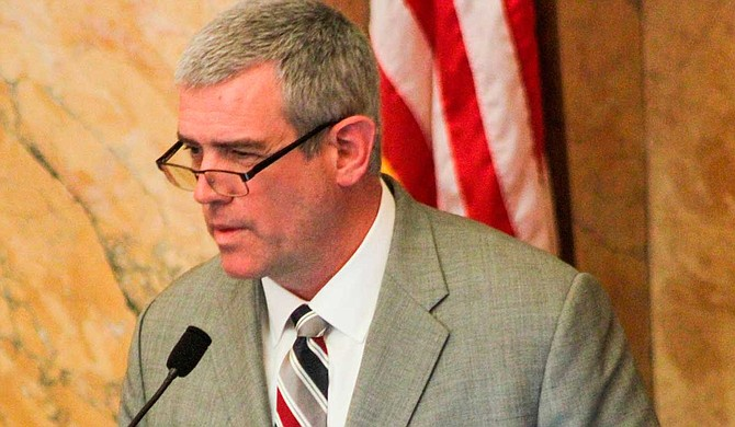 The lawsuit names Mississippi House Speaker Philip Gunn (pictured) and the state's top elections official, Secretary of State Delbert Hosemann, as defendants. Both are Republican.