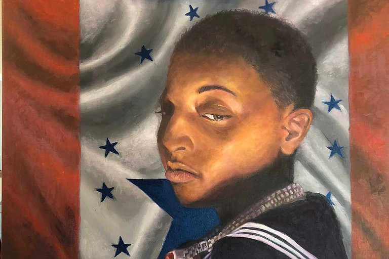 """Mississippi State University will host the """"Mississippi Stennis Flag Exhibition"""" beginning Thursday, Aug. 1. The exhibit is inside the Cullis Wade Depot Art Gallery on the second floor of the university's welcome center and will remain on display through Sept. 6. Art by Alexander Bostic"""