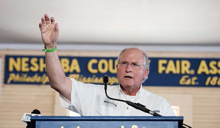 "Republican candidate for Mississippi governor Bill Waller, the former chief justice of the Mississippi Supreme Court, told a crowd at the Neshoba County Fair on Thursday that he supports expanding Medicaid in the state, though he prefers to call it ""Medicaid reform."" Photo by Ashton Pittman"