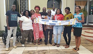 Jackson State University students and Dr. Byron D'Andra Orey, political science professor, travelled to Ghana in West Africa for a 10-day study-abroad experience that took them on an emotional pilgrimage. Photo courtesy JSU
