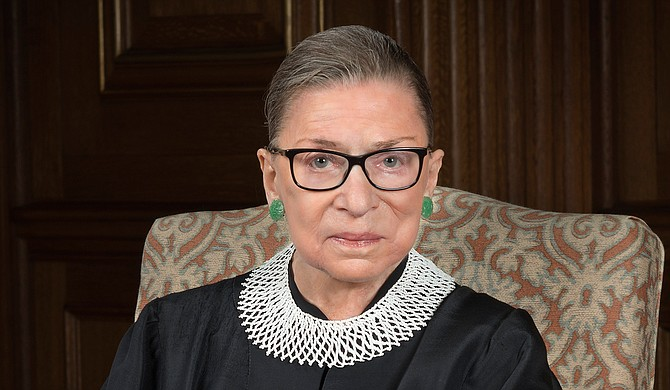 Justice Ruth Bader Ginsburg has completed radiation therapy for a cancerous tumor on her pancreas and there is no evidence of the disease remaining, the Supreme Court said Friday. Photo courtesy Supreme Court of the United States