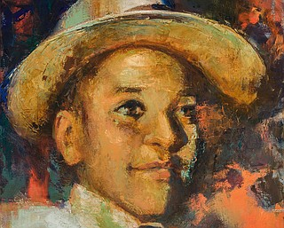 """Justice for Emmett Louis Till is not a black issue. This fight for justice transcends race. It's a call for us to show the world through action that no one is above the law and justice is for all in America. We can no longer remain silent."" Painting by Bonnie Mettler"