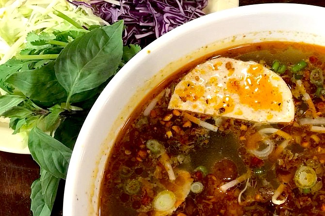Thoung and Lily Hong opened Vietnamese restaurant Pho Huong in October 2017. The restaurant serves dishes such as pho and a Vietnamese beef stew. Photo courtesy Pho Huong