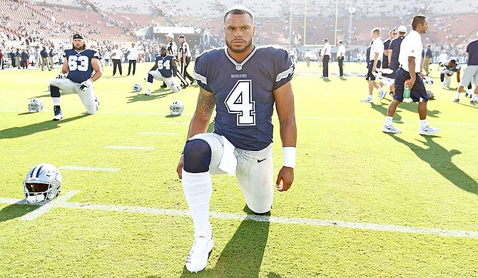 Mississippi State University alumnus and Dallas Cowboys quarterback Dak Prescott recently raised $20,000 to support the university's T.K. Martin Center for Technology and Disability through his Faith, Fight, Finish Foundation. Photo courtesy James D. Smith/Dallas Cowboys