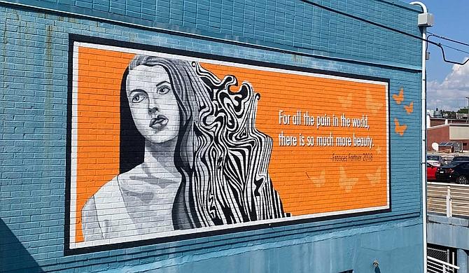 Scott Allen painted a mural honoring Frances Fortner. Photo courtesy Jarrod Parker/Zenwood Photography