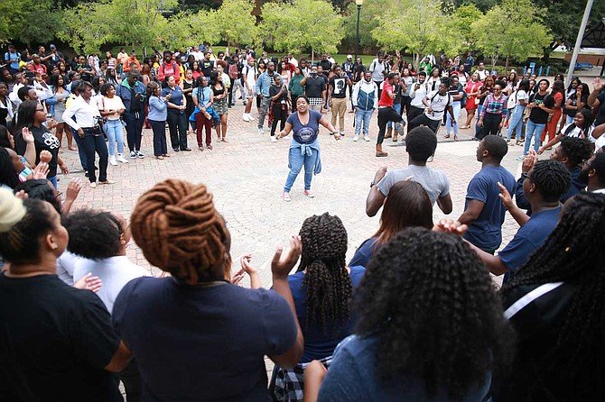 JSU will hold its Homecoming Yard Fest on Friday, Oct. 11, from 11 a.m. to 6 p.m. The event will include performances by the Sonic Boom of the South, JSU cheerleaders and the JSU Dance Ensemble, and food trucks on the Gibbs-Green Plaza. Photo courtesy JSU