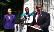 Jonathan Lee announces his candidacy for Jackson mayor. (Audio is muffled near the end.)