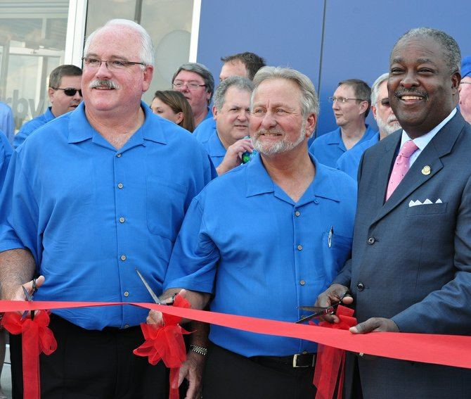 Jackson Mayor Harvey Johsnon Jr. participated in the ribbon cutting for the Irby company's recent expansion.