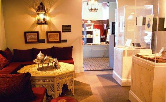 "Artifcacts and a tea set display the theme in IMMC's exhibit, ""Islamic Moorish Spain."