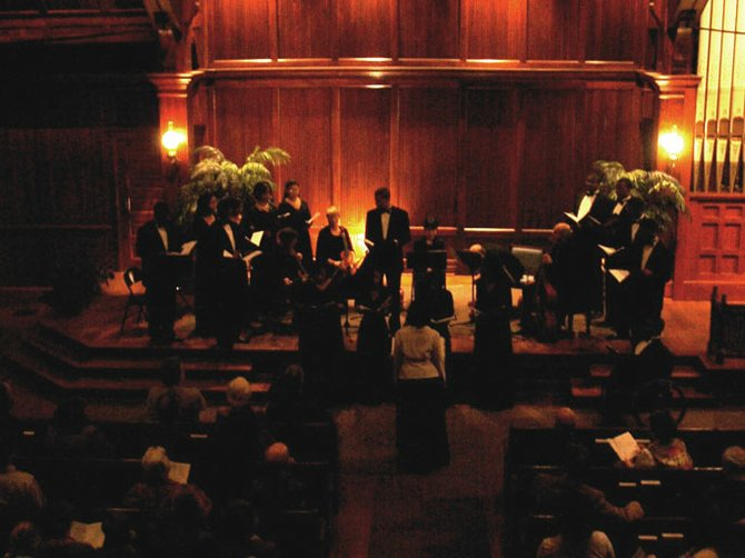 English musicians Fretwork performed with the Tougaloo College choir last season.