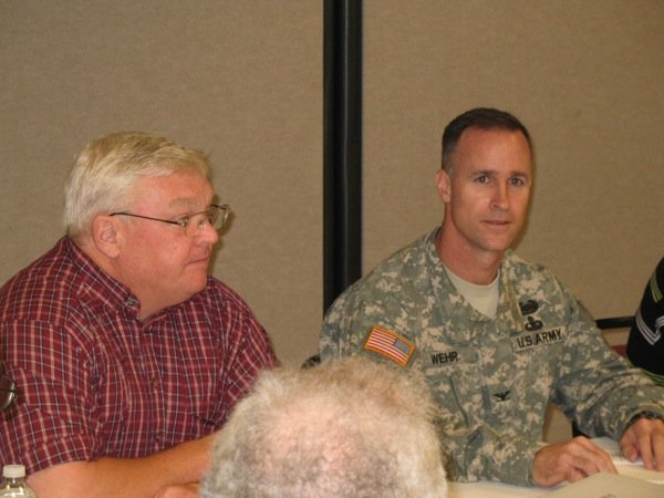 U.S. Army Corps of Engineers Chief of Project Management Doug Kamien and District Commander Col. Michael Wehr