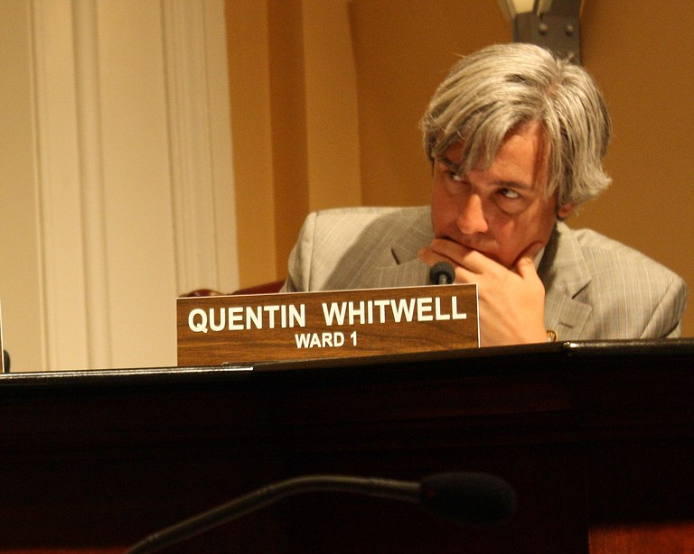 Ward 1 Councilman Quentin Whitwell listens at a Jackson City Council meeting.