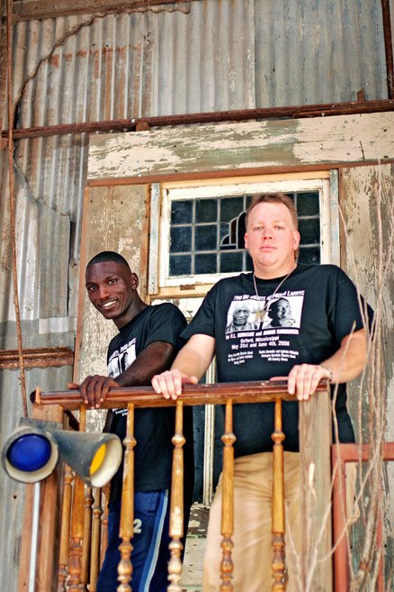 "Cedric Burnside and Lightin' Malcolm celebrate the release of their new album ""2 Man Wrecking Crew"" at Martin's Saturday, Nov. 1."