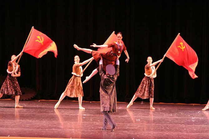"Ballet Magnificat! will perform excerpts from ""The Scarlet Chord"" in Colombia."