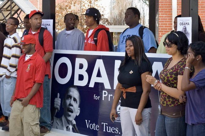 Democrat Barack Obama worked hard to court the youth vote in 2008, including at Jackson State University.