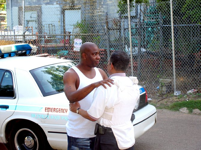 During a JFP ride-along in 2006, Mayor Frank Melton embraced Maurice Warner while hunting for Vidal Sullivan.
