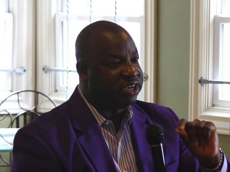 Alcorn State University President Christopher Brown said the Jackson Convention and Visitors Bureau will need to offer $500,000 cash, plus expenses, to get the university to consider playing home games against Jackson State University in Jackson.
