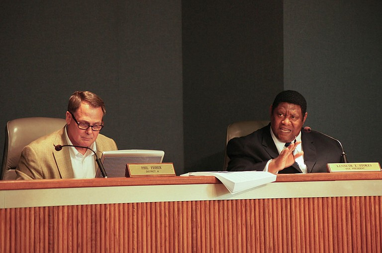 Hinds Supervisor Kenny Stokes (right) wants to save the Capital City Classic. Supervisor Phil Fisher is on the left. .