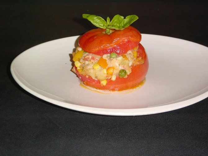 Stuffed tomatoes are a delicious way to enjoy the summer harvest.
