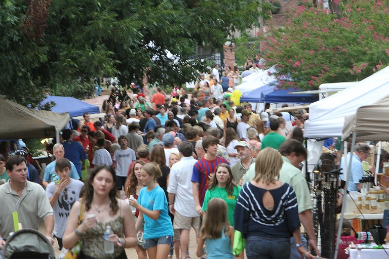 On Saturday, Bright Lights, Belhaven Nights is at 5:30 p.m. at Carlisle Street and Kenwood Place behind McDade's in Belhaven.