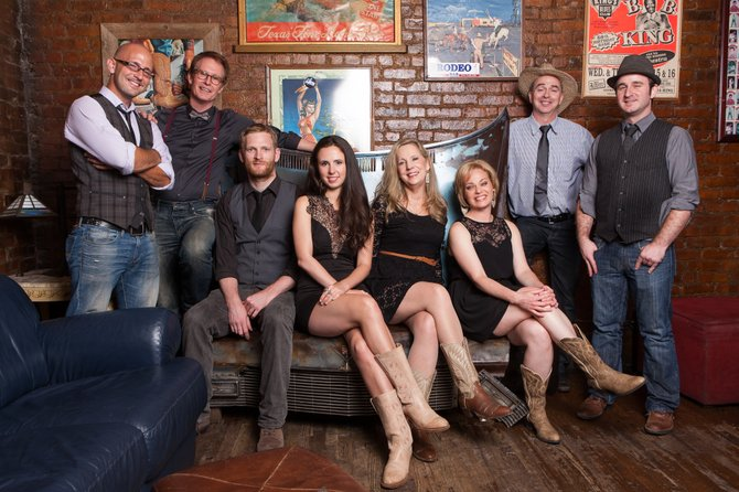 Annie Chadwick (center female), along with her progressive bluegrass band the NYCity Slickers, is coming home to Mississippi for an eight-stop tour.