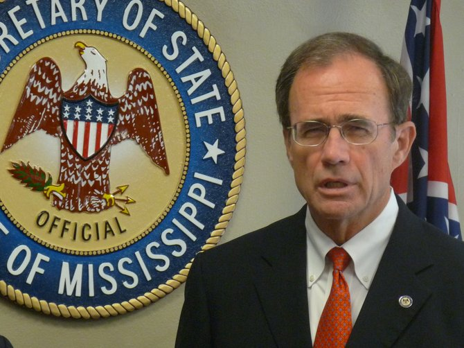 Mississippi Secretary of State Delbert Hosemann's office has finally placed alerts on the department's official website telling voters that photo ID isn't required for the Nov. 6 election.