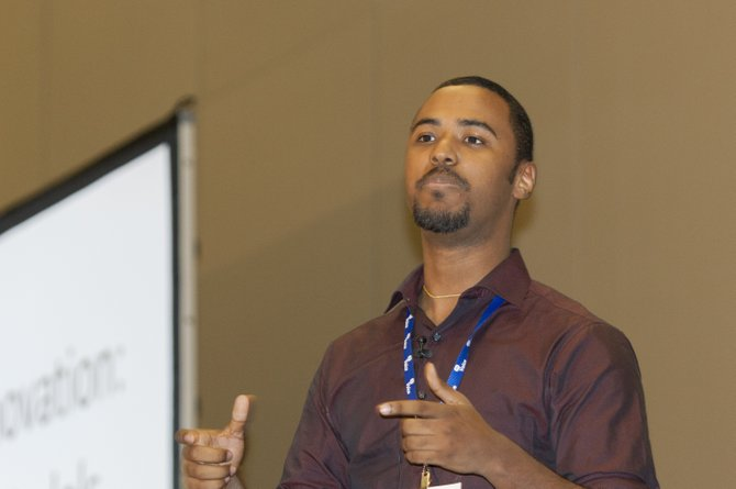 Yorman Nunez, field organizer for the Massachusetts Institute of Technology's Community Innovators Lab, told local black leaders about the fight to bring New York City's poorest zip code out of poverty.