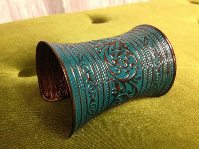 Teal and Copper Cuff, $12.50, The Hair Boutique Salon