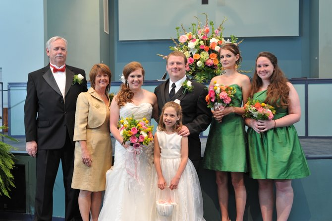 The author, far left, celebrates his son Richard L. Coupe's wedding to Natalie K. Danforth with the Coupe family.