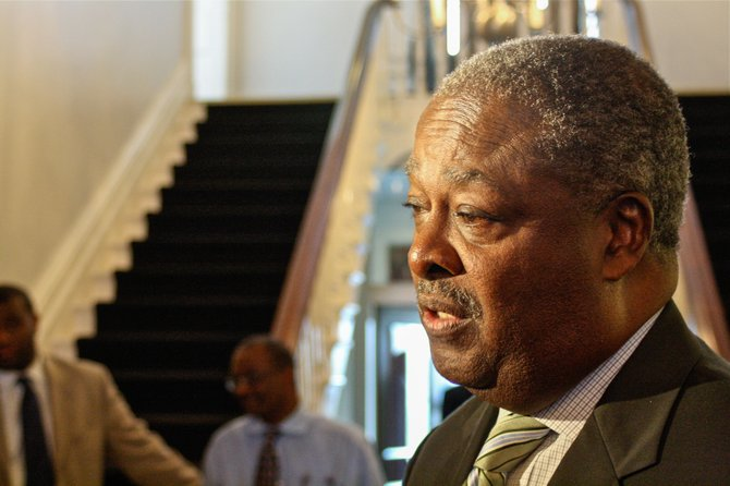 Mayor Harvey Johnson Jr. signed a $90 million contract with Siemens Corp. for what he is calling the largest water project in the city's history.