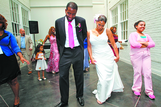 The wedding of Wendy Shenefelt and Michael Fleming paid homage to their passion for education and their heritage.