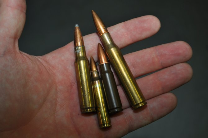 Vendors showed off an assortment of long-range rifle bullets, which were on display at a well-attended gun show in Jackson Jan. 12.