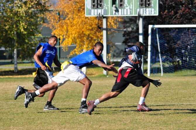 A recess favorite of many kids, flag football is gaining popularity with adults as leagues grow across the country.