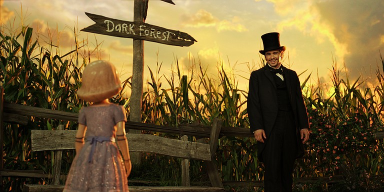 "James Franco is on his way to the magical kingdom in ""Oz the Great and Powerful."""
