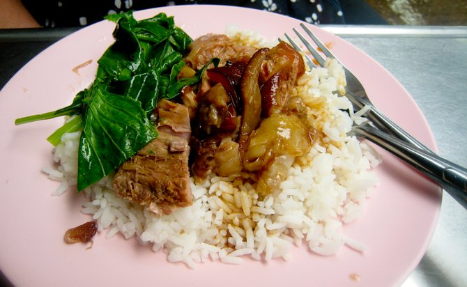 Braised pork cooks long and slow, so it's a great dish to make during a party.