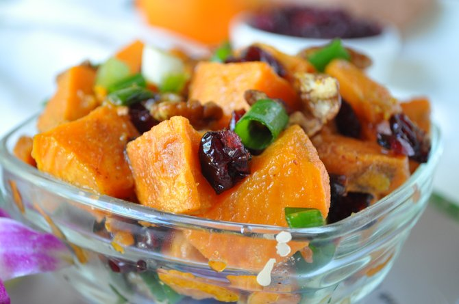 Sweet potatoes are a more versatile ingredient than they are given credit for—try something new, like sweet potato salad.