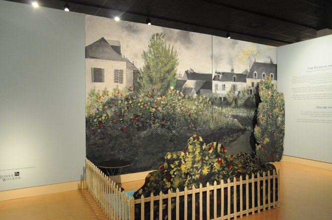 Stepping into an interactive mural allows museum visitors to become imaginary Impressionists.