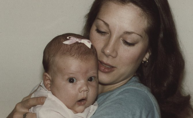 Ginger Williams-Cook, shown as a baby with her mom, embraced motherhood.