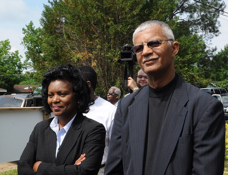 With just two days remaining before Jackson voters return to the polls to pick the city's next mayor, businessman Jonathan Lee's campaign is attempting to define rival Councilman Chokwe Lumumba (right) as a non-Christian, anti-American police-hater. Former mayoral candidate Regina Quinn (left) endorsed Lumumba.