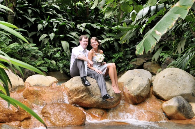 After a private wedding and honeymoon in Costa Rica, Yancy Burns and Shanda Yates returned to Jackson to celebrate with family and friends at the Fairview Inn.