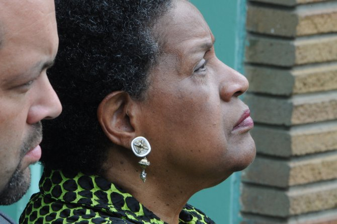 Benjamin Jealous (left), the current NAACP national president, and Myrlie Evers-Williams (right) visited Jackson recently to mark the 50th anniversary of the assassination of Evers-Williams' husband, Medgar.