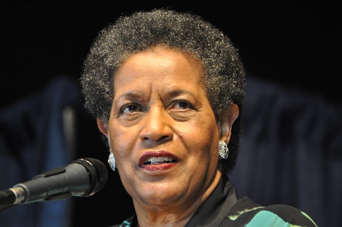Nearly 750 celebrants attended the Medgar Evers gala—a black-tie, $100-a-ticket affair held at the Jackson Convention Complex that featured several high-profile guests, including Evers' widow Myrlie Evers-Williams.