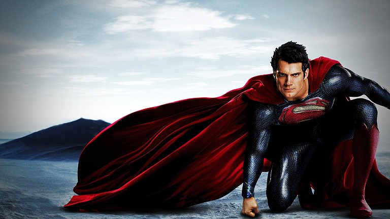 """The handsome Henry Cavill fits the Superman suit perfectly in """"Man of Steel."""""""